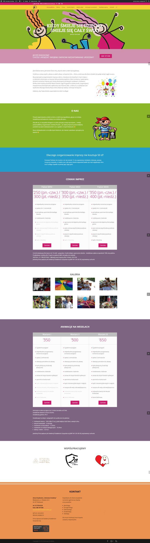 Witryna internetowa typu one page - Domowe Urodziny #wordpress #divi #strony interntowe