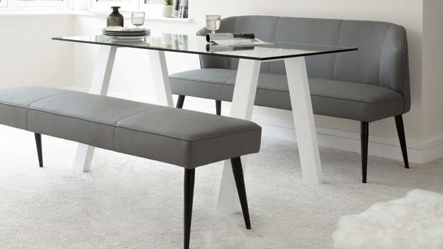 Three seater modern dining bench