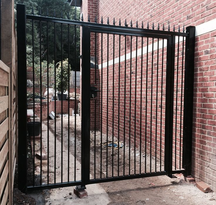 Our Rsg3000 Security Door Gate With Side Panels Fitted To