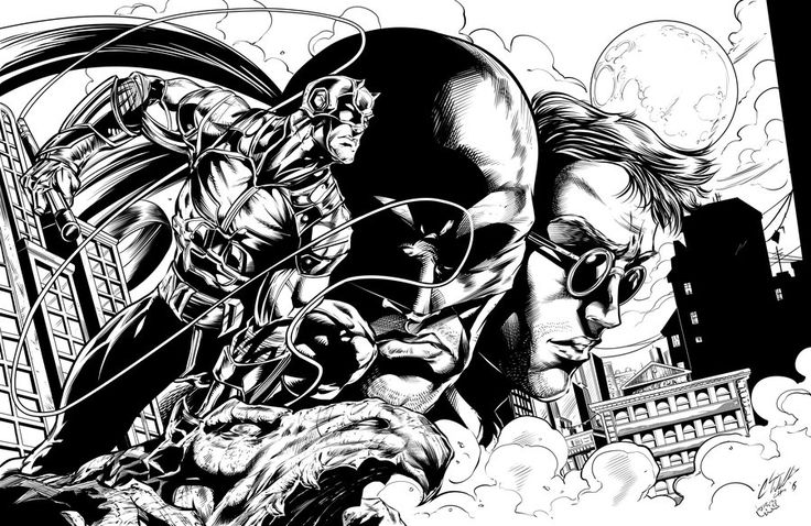 netflix daredevil coloring pages - photo#5