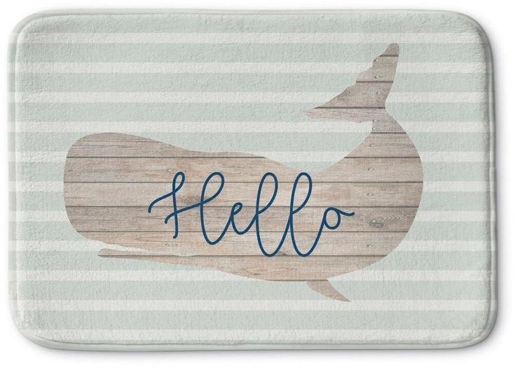 Absorbent Memory Foam Nautical Bath Mat with Non Skid Backing 17 x 24 Inches #BathMat #MemoryFoamMat #NauticalMat #AbsorbentMat #BathRug #SoftMat #DoorMat #Mat #Rug #SkidResistant #NonSlip #Home #Kitchen #Bathroom #Bath #UniqueMat
