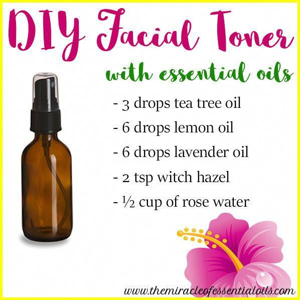 DIY Essential Oil Face Toner for Oily Skin #Natura…