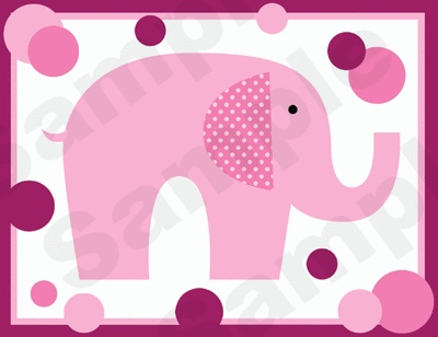 PINK MAGENTA POLKA DOT ELEPHANTS BABY GIRL NURSERY WALL BORDER STICKERS DECALS | eBay