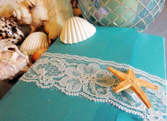 Matrimonio.it | #Partecipazione di #matrimonio fai da te a tema mare #handmade #faidate #tutorial