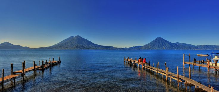 view from San Pedro la Laguna docks in Lake Atitlan Guatemala http://www.justapack.com/lake-atitlan-on-a-backpacking-budget/