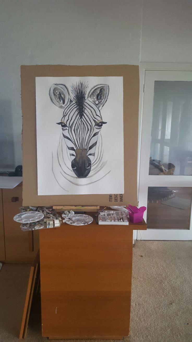 Zoe Zebra ready for her forever home! #artnwitchcraft