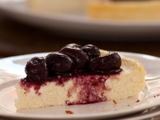 Cherry Ricotta Cheesecake from #FNMag: Tarts Cherries, Food Network, Healthy Cheesecake Recipes, Cherries Ricotta, Cheesecake Strawberries, Ricotta Cheesecake, Comforter Food, Ellie Krieger, Cherries Cheesecake