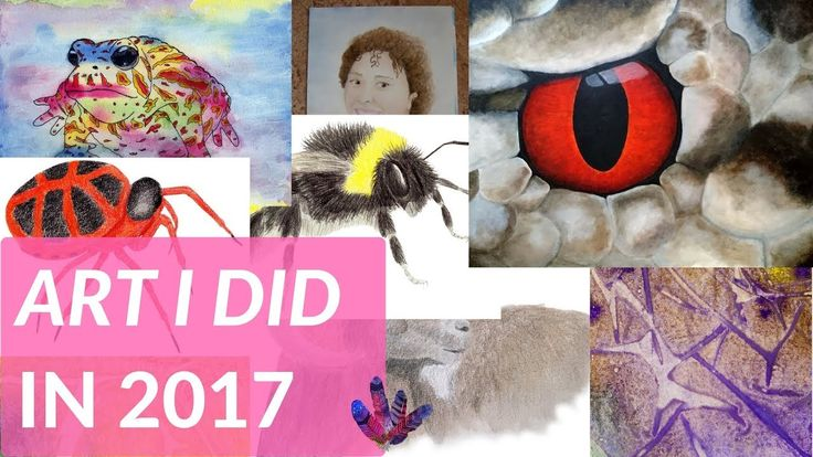 Art created in 2017 - a video with all the art I created in 2017