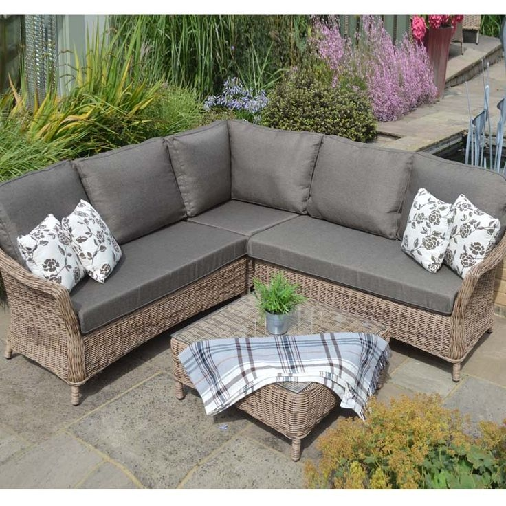 Saigon Colonial Modular Lounge Set Rattan Weave Outdoor Furniture Perfect For Lounging With Footstool