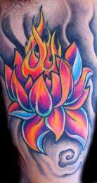 Lotus Flower Tattoo - Beautiful colors