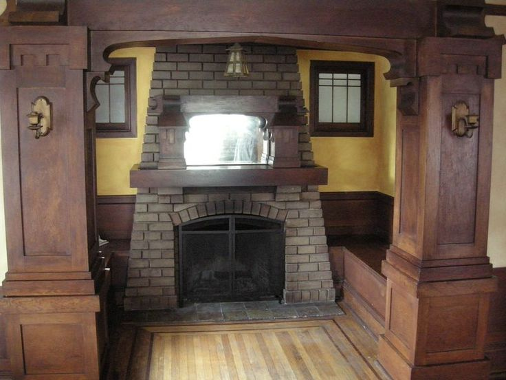 231 best images about craftsman style fireplaces on for Craftsman gas fireplace