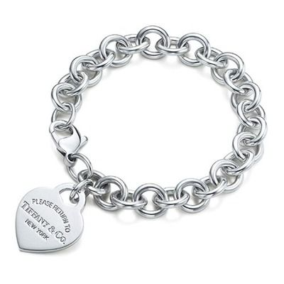 Classic Return to Tiffany heart tag charm bracelet: my hubby bought me this while we were dating & I still wear it everyday.