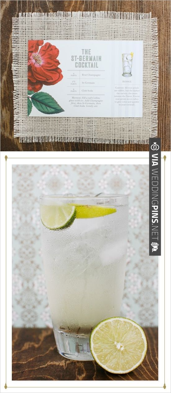 classic st-germain cocktail recipe | CHECK OUT MORE IDEAS AT WEDDINGPINS.NET | #weddingfood #weddingdrinks