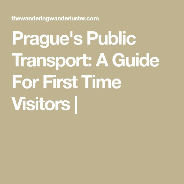 Prague's Public Transport: A Guide For First Time Visitors  