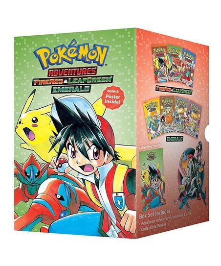 Pokémon Adventures: FireRed & LeafGreen & Emerald Manga Box Set | zulily