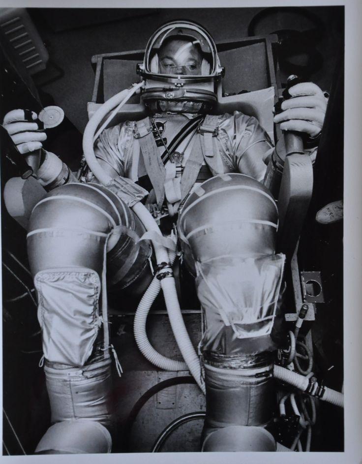 """Original 1963 8"""" x 10"""" Photo of Mercury 7 Astronaut Gordon Cooper in Pressurization Suit"""