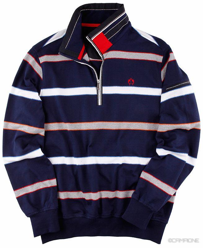 #Sweatshirt für #Herren mit frischen Streifen.