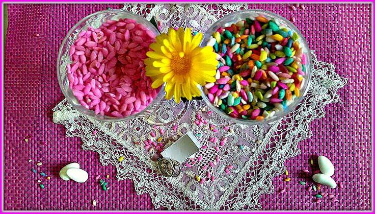 Riso colorato per matrimoni, feste, decorazioni