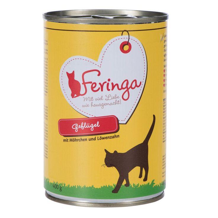 Animalerie  Feringa Menus Duo 6 x 400 g pour chat  canard veau brocoli pissenlit