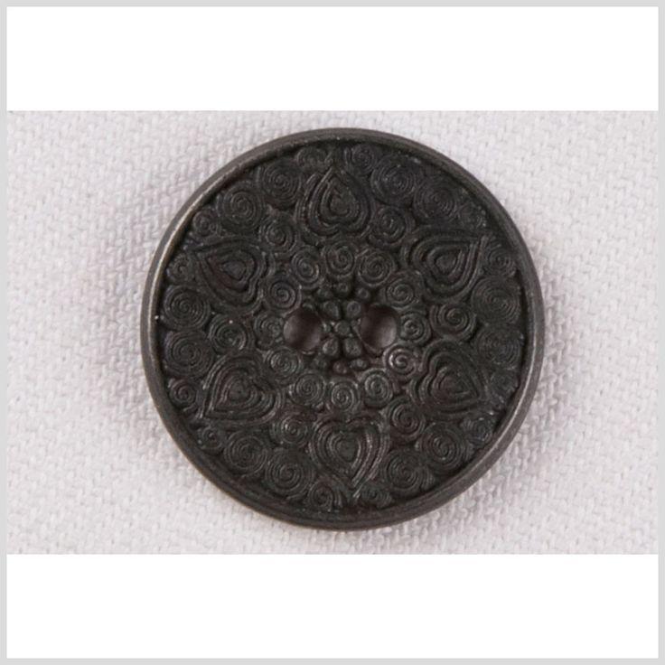 Gunmetal Metal Button - 28L/18mm