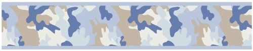 Blue and Khaki Camo Army Camouflage Baby, Kids and Teens Wall Paper Border by Sweet Jojo Designs Sweet Jojo Designs http://smile.amazon.com/dp/B003BQRKMG/ref=cm_sw_r_pi_dp_iccGvb1T34M77