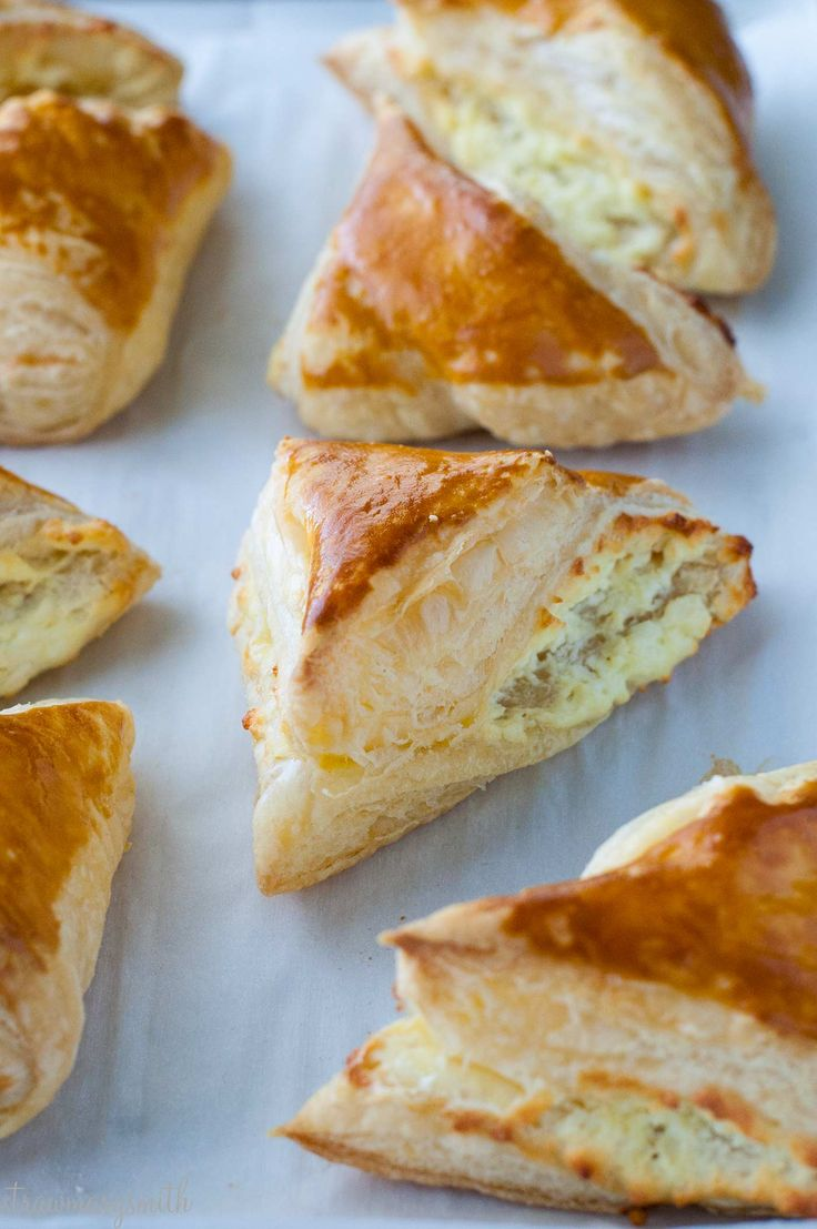 Grandma's Armenian Boyrek recipe - creamy melted feta cheese baked in crispy puff pastry, with step-by-step photos to make this simple authentic dish at home. | strawmarysmith.com