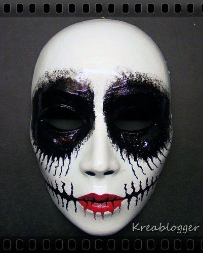 Tim Burton. Great idea for Halloween makeup.