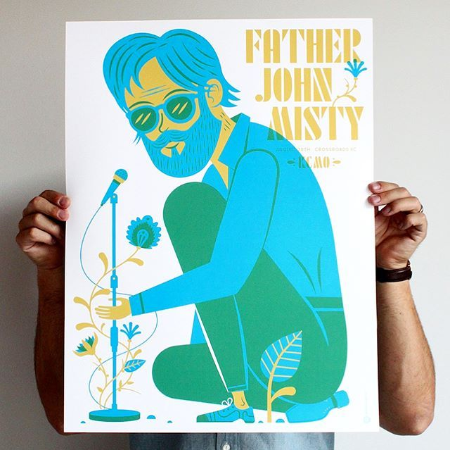 WEBSTA @tadcarpenter Just completed our NEW poster for Father John Misty's show in Kansas City for this Sunday night!