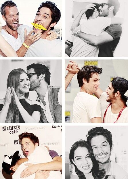 Tyler Posey with JR Bourne, Tyler Hoechlin, Holland Roden, Dylan O'Brien, Dylan…