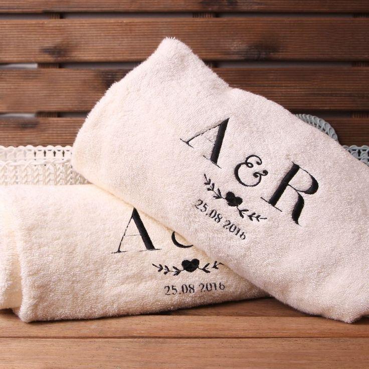 Komplet personalizowanych ręczników SERDUSZKO
