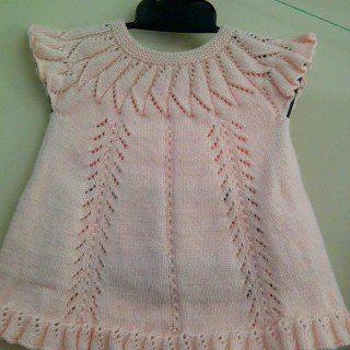 Kız Bebeklere Örgü Elbise Modelleri 150