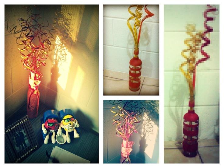 Mas decoracion con botellas de vidrio adornos navidad - Decoracion de botellas ...