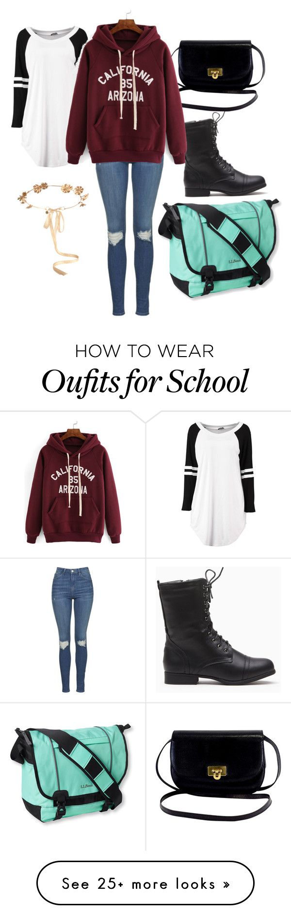 """School wear."" by diamondkitty26 on Polyvore featuring L.L.Bean, Topshop and Eugenia Kim"