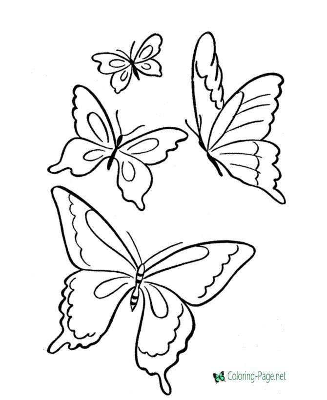 Butterfly Coloring Pages Butterfly Coloring Page Butterfly