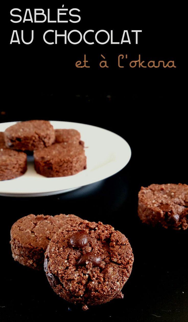 sablés au chocolat et à l'okara vegan/gluglu free