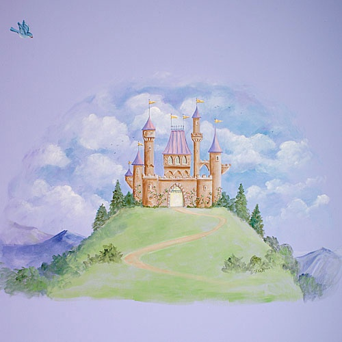 Best 25 castle mural ideas on pinterest princess mural for Fairy castle mural