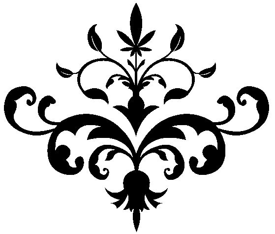 Download this Ornate Floral Stencil Pattern and other free printables from MyScrapNook.com