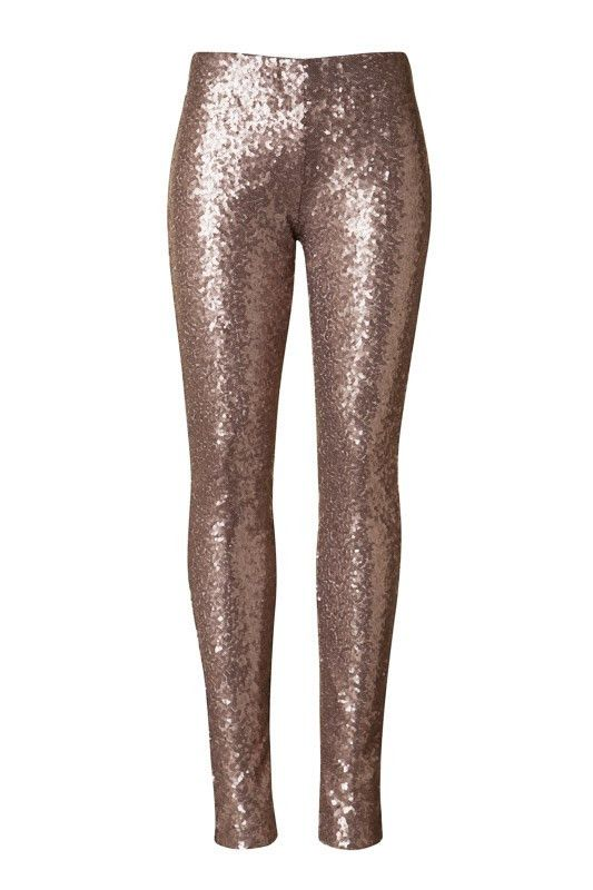 glitter bomb all over sequin pants   gold champagne