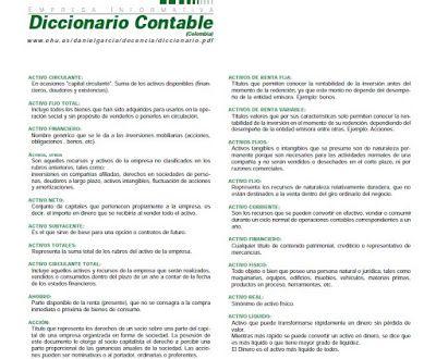 CONTABILIDADTOTAL: Diccionarios y Glosarios de términos contables