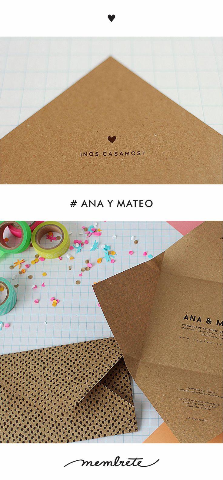 Ana & Mateo ♥ Membrete   Invitaciones en papel   www.membrete.com.uy