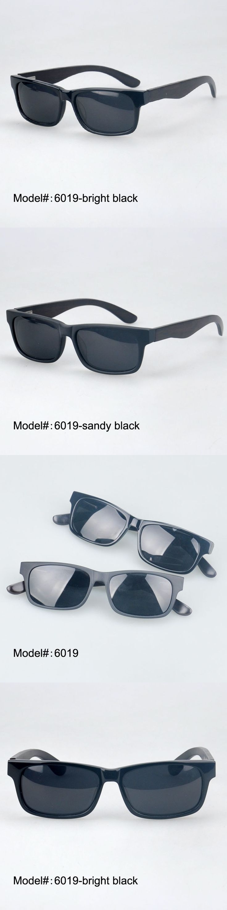 MY DOLI 6019 New style for men acetate frame wooden temple sunglasses with spring hinge  sunshade UVB