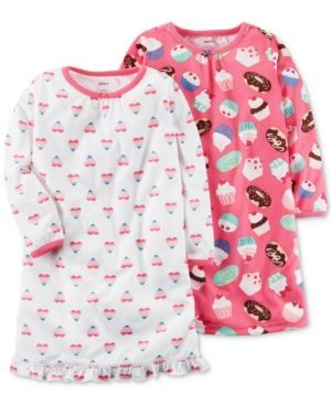 Carter's 2-Pk. Printed Nightgowns Set, Little Girls (4-6X) & Big Girls (7-16) - Multi 12-14