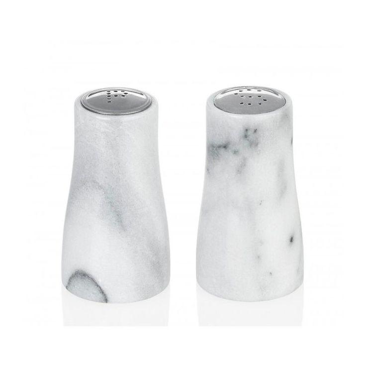 Salière Et Poivrière En Marbre Blanc Ø5cm ↕9cm – Taille : Taille Unique