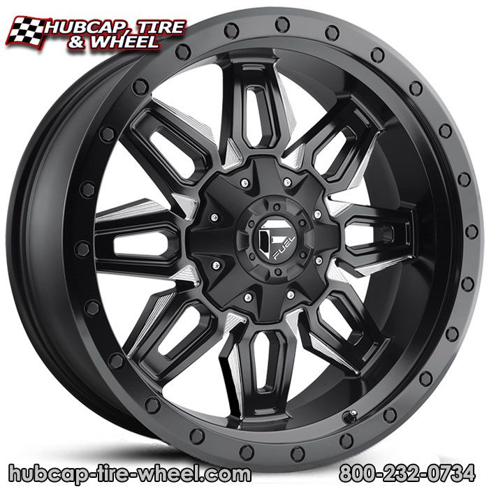 New for 2017! Fuel D591 Neutron Matte Black Milled Wheels & Rims