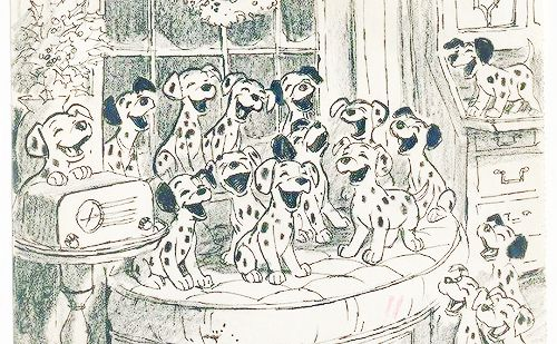 is this concept art the cutest thing or what? :) 101 dalmations