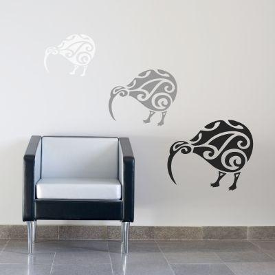 koru kiwi wall decal - kiwiana