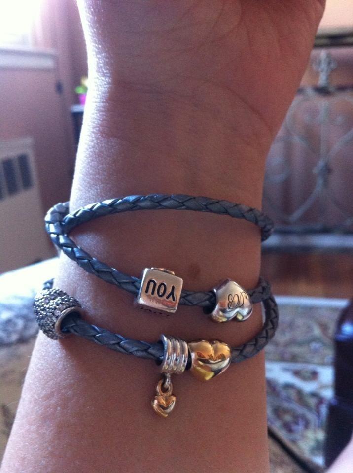 Triple Grey Leather Pandora Bracelet My Style Pinterest Bracelets And