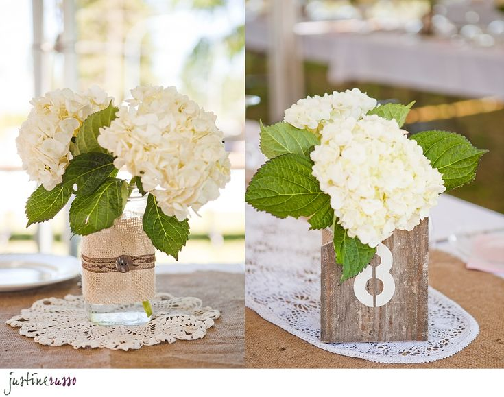 Hydrangeas - Rustic Wedding Decorations