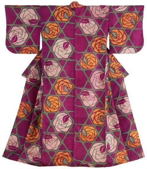 runningink:  Charles Rennie Mackintosh. Japanese silk Kimono.
