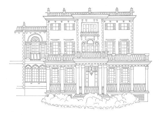 coloring pages brownstone - photo#20